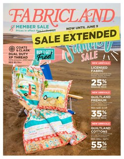 Fabricland deals in the Fabricland catalogue ( Expired)