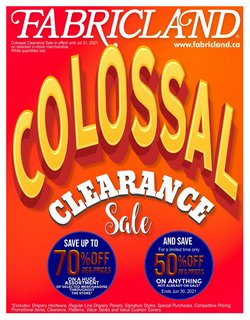 Fabricland deals in the Fabricland catalogue ( 6 days left)