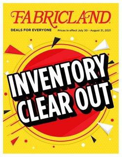 Fabricland catalogue ( 26 days left)