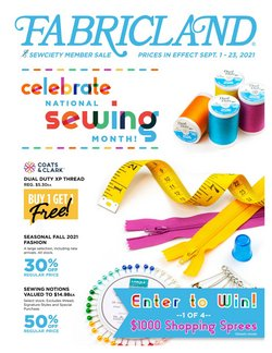 Home & Furniture deals in the Fabricland catalogue ( 4 days left)