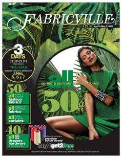 Fabricville deals in the Fabricville catalogue ( Expired)