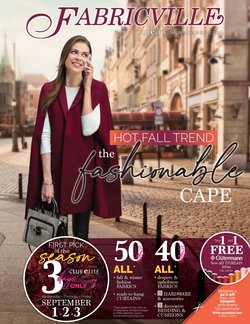 Home & Furniture deals in the Fabricville catalogue ( Expires today)