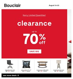 Bouclair Home deals in the Montreal flyer
