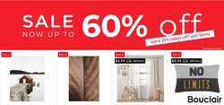 Home & Furniture deals in the Bouclair Home catalogue ( Published today)
