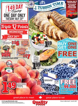 Quality Foods deals in the Vancouver flyer
