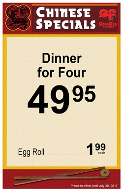 Quality Foods deals in the Victoria BC flyer