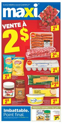 Maxi deals in the Montreal flyer