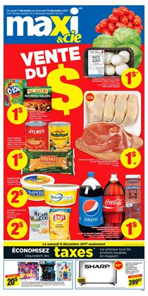 Maxi deals in the Sherbrooke flyer