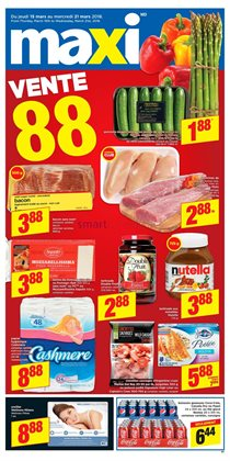 Maxi deals in the Trois-Rivières flyer