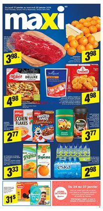 Maxi deals in the Victoriaville flyer