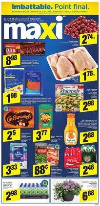 Grocery deals in the Maxi catalogue ( Expires today)