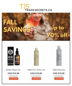 Trade Secrets deals in the Trade Secrets catalogue ( More than a month)