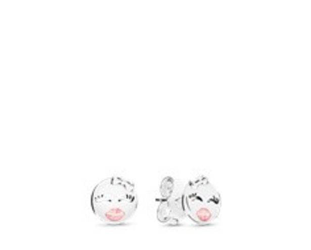 Playful Winks Stud Earrings, Light Pink Enamel discount at $50