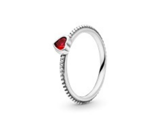 Red Heart Beaded Ring discount at $50