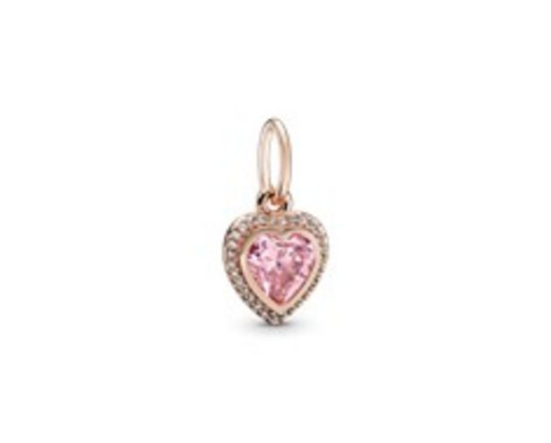 Sparkling Pink Heart Pendant discount at $100