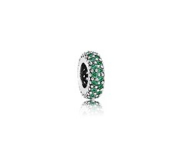 Inspiration Within Charm Spacer, Green CZ discount at $40