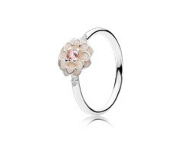 Blooming Dahlia, Cream Enamel, Clear CZ & Blush Pink Crystals - FINAL SALE discount at $60