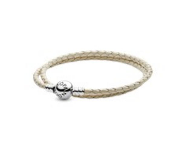 Ivory White Braided Double-Leather Charm Bracelet - FINAL SALE discount at $60