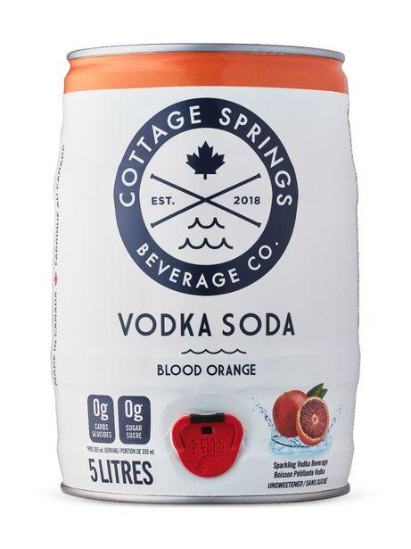 Cottage Springs Blood Orange Vodka Soda Mini Keg discount at $29.95