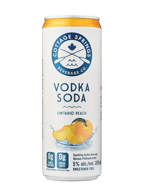 Cottage Springs Ontario Peach Vodka Soda discount at $2.7