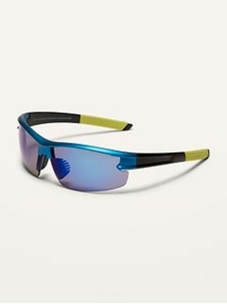 Gender-Neutral Color-Blocked Sport Sunglasses for Kids discount at $9.97
