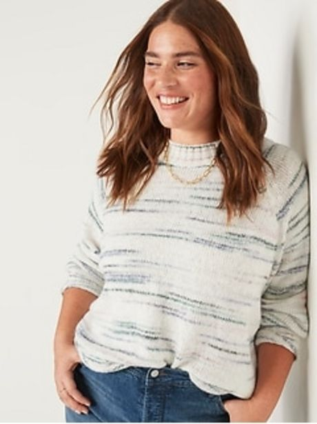 Slouchy Crew-Neck Sweater for Women discount at $35.97