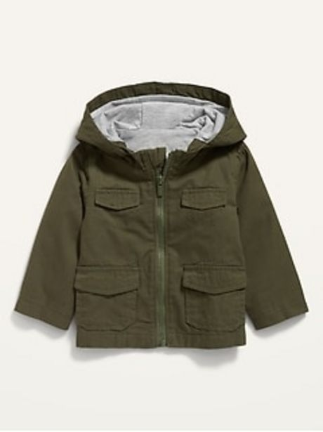 Unisex Hooded Canvas Utility Jacket for Baby discount at $20