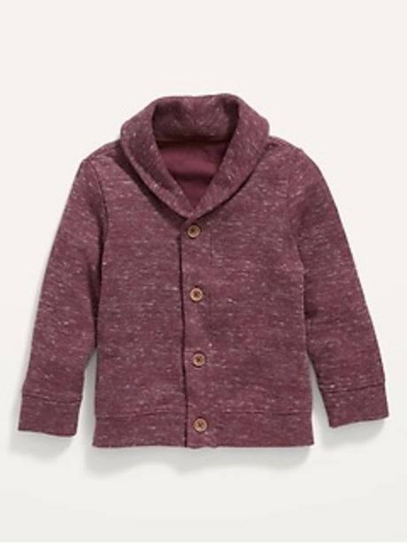 Shawl-Collar Button-Front Sweater for Toddler Boys discount at $20