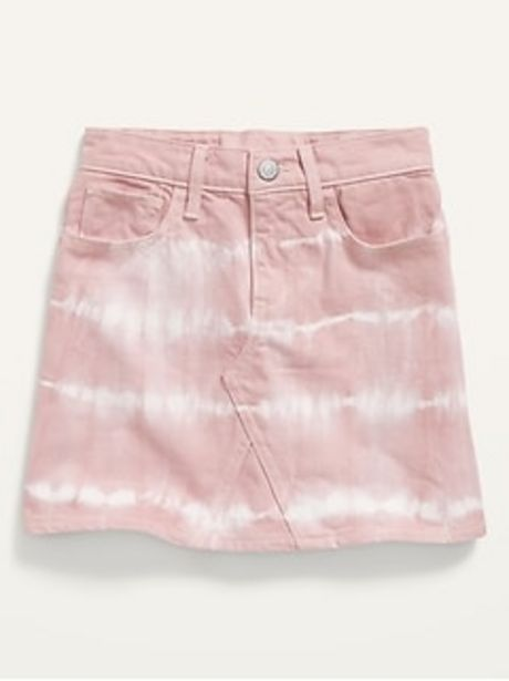 High-Waisted Tie-Dye Jean Skirt for Girls discount at $14.97