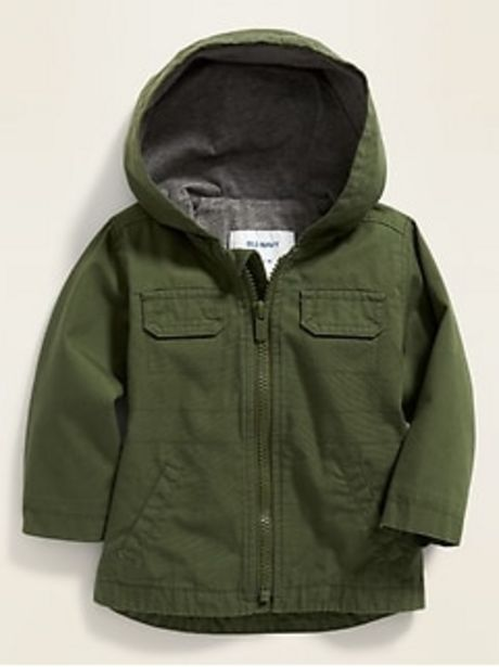 Unisex Hooded Canvas Utility Jacket for Baby discount at $24