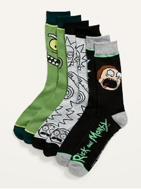 Rick and Morty&#153 Gender-Neutral Socks 3-Pack for Adults discount at $10