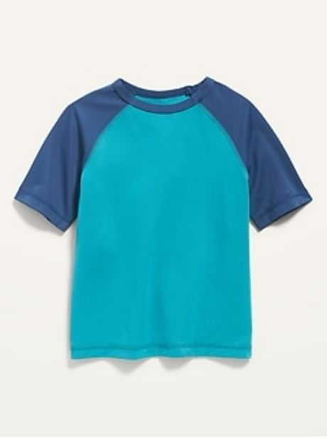 Short-Sleeve Color-Blocked Rashguard for Toddler Boys discount at $3.97