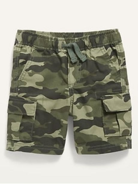 Functional Drawcord Canvas Cargo Shorts for Toddler Boys discount at $6.97