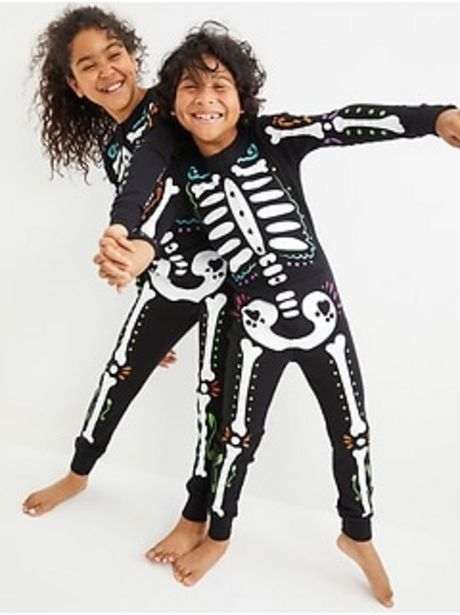 Gender-Neutral Snug-Fit Matching Halloween One-Piece Pajamas For Kids discount at $20