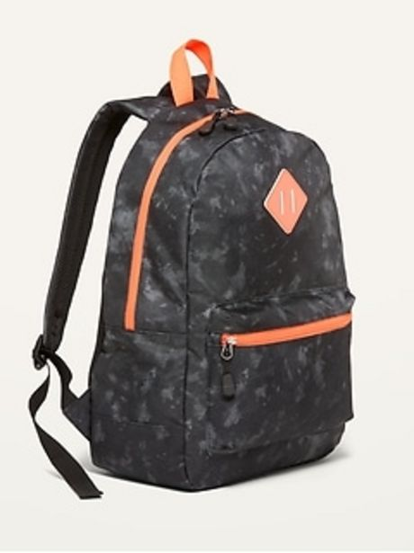 Patterned Canvas Backpack For Kids discount at $16