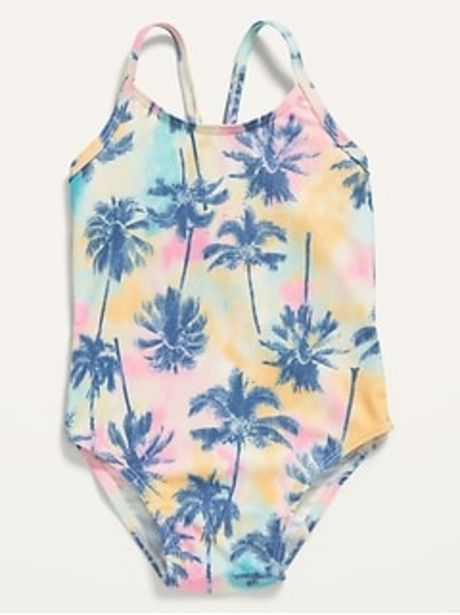 Printed One-Piece Swimsuit for Toddler Girls discount at $12.97