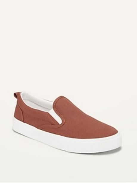 Gender-Neutral Canvas Slip-Ons for Kids discount at $20