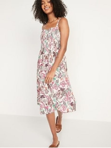 Smocked Fit & Flare Cami Midi Dress for Women discount at $33.97
