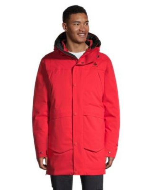 WOODS MENS ELIAS ARCTIC DOWN PARKA F20 RED - Red discount at $274.97