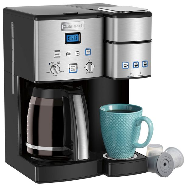 Cuisinart Coffee Center Programmable Coffee Maker - 12-Cup/Single Serve - Black/Stainless Steel discount at $199.98
