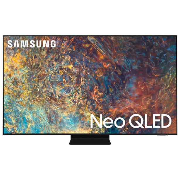"Samsung 55"" 4K UHD HDR QLED Tizen OS Smart TV (QN55QN90AAFXZC) - 2021 - Titan Black discount at $1999.99"
