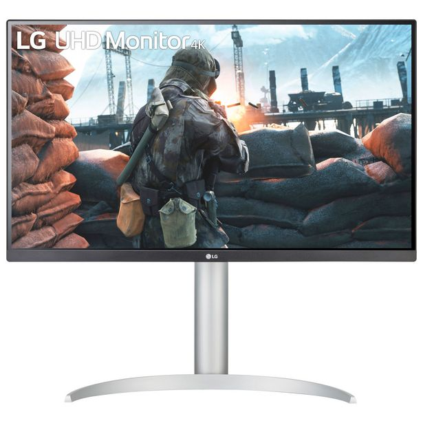 """LG UltraFind 27"""" 4K Ultra HD 60Hz 5ms GTG IPS LED FreeSync Gaming Monitor (27UP650-W) - White discount at $369.99"""