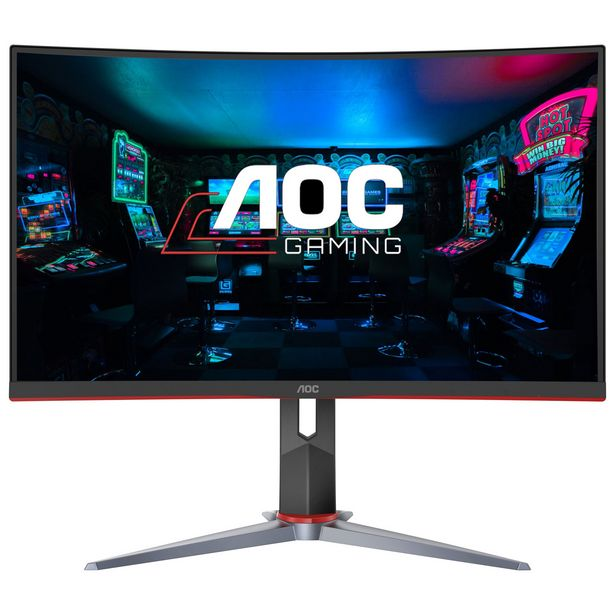 """AOC 27"""" FHD 165Hz 1ms GTG Curved VA LED FreeSync Gaming Monitor (C27G2) - Black/Red discount at $319.99"""
