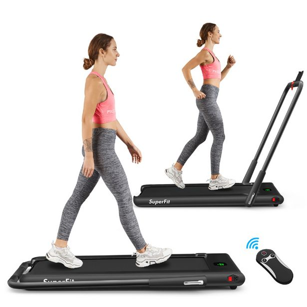 SuperFit 2.25HP 2 in 1 Foldable Under Desk Treadmill/Walking Pad Remote Control discount at $399.99