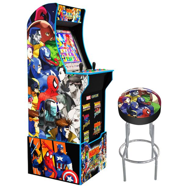 Arcade1Up Marvel vs Capcom Arcade Machine with Riser & Stool - Only at Best Buy discount at $649.99