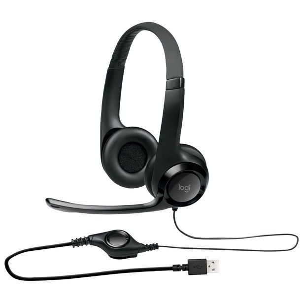 Logitech Stereo USB Headset (H390) discount at $29.99