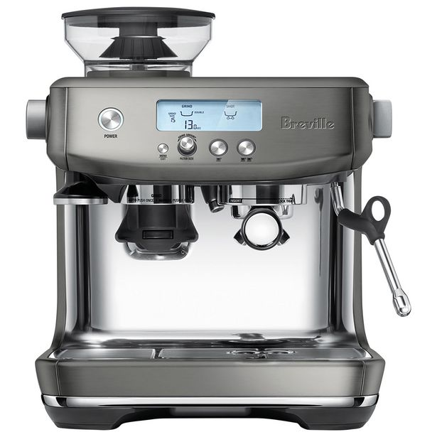 Breville Barista Pro Espresso Machine with Frother & Coffee Grinder - Smoked Hickory discount at $905.98