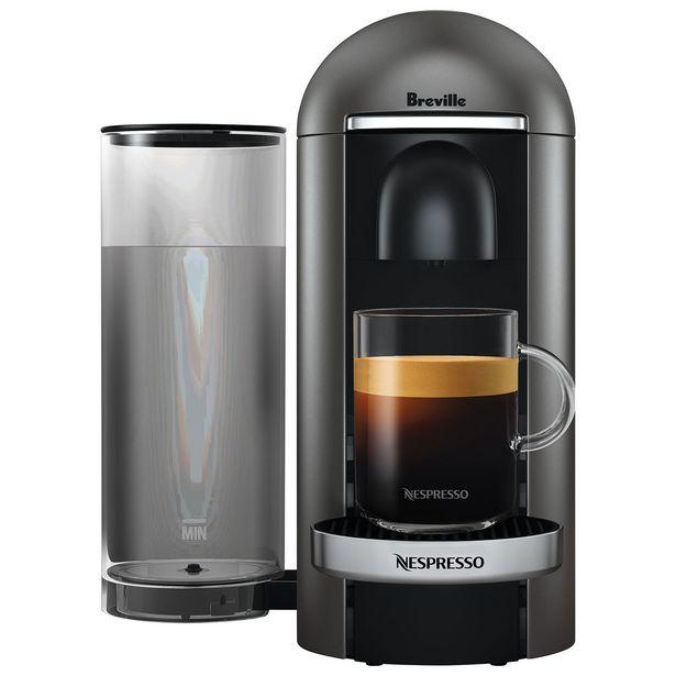 Breville Nespresso VertuoPlus Deluxe Coffee System - Titan/Black discount at $199.99