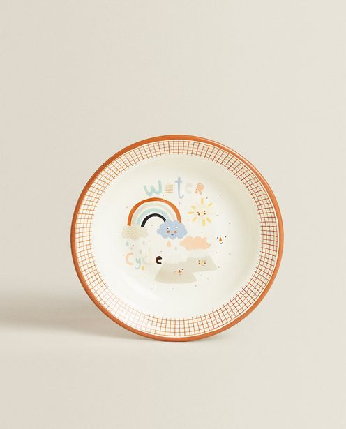Enameled Sun And Cloud Plate discount at $19.9