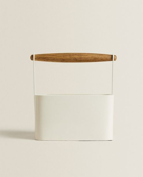 Metal Basket With Wooden Handle discount at $35.9
